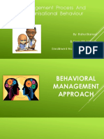 Behavioural Approach of Mgt.