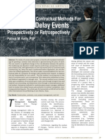 Recommended Contractual Methods for Resolving Delay Events - 22217