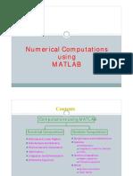 MATLAB 4 Numerical Computations