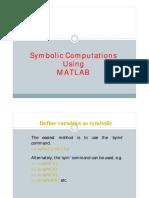 MATLAB-5 Symbolic Computations