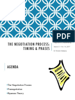 3. Negotiation Process and Timing