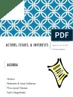 4. Actors, Issues, & Interests