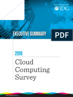 2018 Cloud Computing Executive Summary