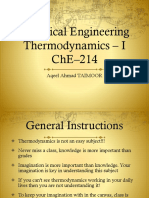 1. Introduction to Chemical Engineering Thermodynamics