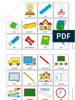 Classroom Objects Memory Game