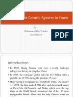 Management Control System in Haeir