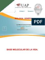 Semana 1 - Base molecular de los seres vivos.ppt