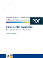 Programa Ingles Primaria Fundamentos