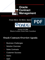 Oracle Contract Management