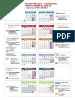 Calendario de apertura - Sábados y domingos 2018-19