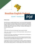 Episode 3 - Brazilian Food