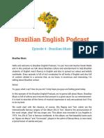 Episode 4 - Brazilian Music