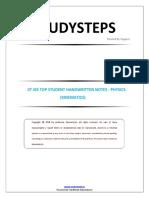 4. Kinematics ( Physics sample notes )