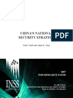 Paul J. Bolt and Adam K. Gray - China`s National Security Strategy