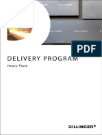 Delivery program of steel plates