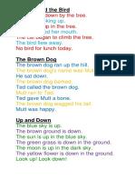 Reading Short Stories