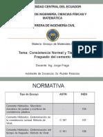 Consistencia Normal Del Cemento y Tiempos de Fraguado (1)