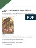 Psalmi Volum de Poezie Al Actorului Dorel Visan (2)