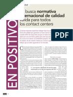 Nuevas normativa de Calidad para Call Center