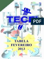Tabela Preços - Tecfi 2013