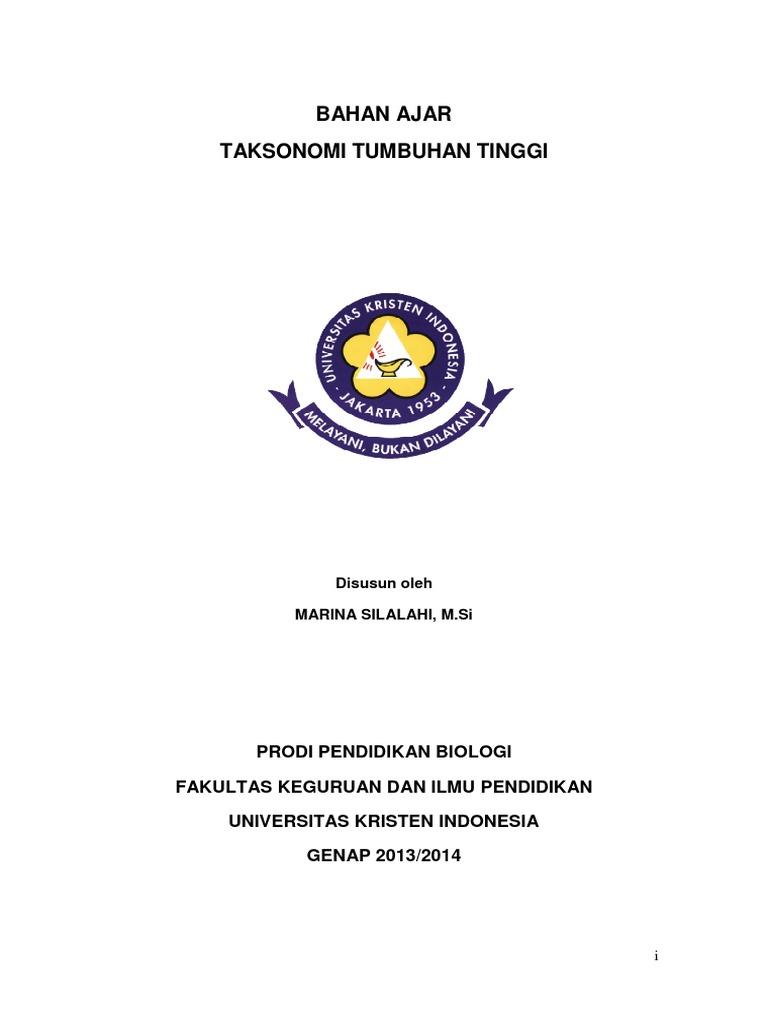 TAKSONOMI TUMBUHAN TINGGI Pdf