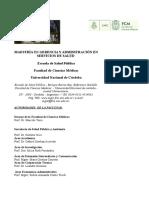 Programa de Maestria Gerencia y a. de S. de S.-1