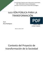 Gestión de Políticas Públicas  en Venezuela