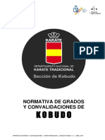 RFEK Normativa Grados Kobudo