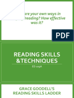 Reading Skills and Techniques
