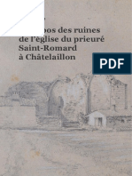 À propos des ruines  de l'église du prieuré  Saint-Romard  à Châtelaillon