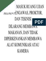 DILARANG MASUK RUANG UJIAN SELAIN PENGAWAS.docx