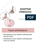 Adaptasi Psikologi Bayi Balita
