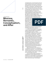Moscow, Romantic conceptualism and after
