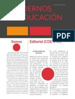 Cuadernos de Educación ENE-MAR (Año XIII) nº49