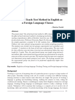 Use of Test-Teach-Test Method in English