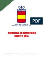RFEK Normativa Karate Kata Kumite Competición 2019