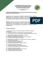 Programa Economia Brasileira