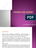 Dower and Dowry