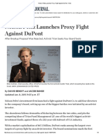 Nelson Peltz Launches Proxy Fight Against DuPont - WSJ