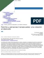 Familia y personas transexuales