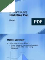 Marketing Plan Blondies