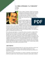 "ANÁLISIS DE LA OBRA LITERARIA ""LA VORÁGINE"""