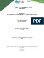 ACTIVIDAD 5.  PROPONER SOLUCIÓN AL PROBLEMA DE CONTAMINACIÓN DEL SUELO