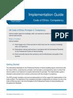 IG Code of Ethics 4 Competency