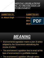 ENVIRONMENTAL LEGISLATIONS PERTAINING TO PROTECTION OF ENVIRONMENT.pptx