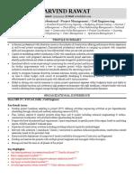 Resume Sample Civil Engineering