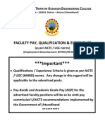 Faculty Pay&Qualification