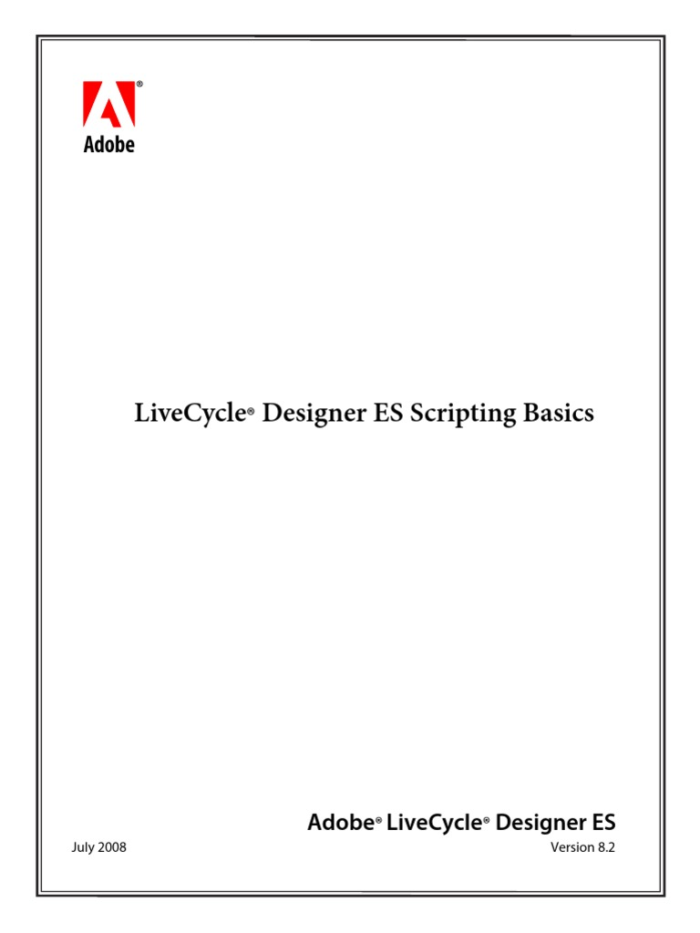 Livecycle Designer Scripting Basics Scripting Language Java Script