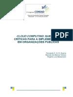 Cloud Computing Questões Críticas Para a Implementação Em Organizações Públicas