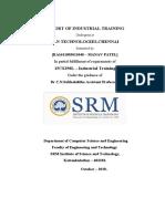 IOT internship report